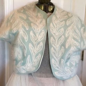 Vintage short mohair linen jacket